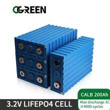 Ogreen 16PCS NEUE 200Ah lifepo4 Batterie Pack 48V200AH 24V400AH CALB Grade EINE Lithium-Eisen Phosphat Zelle 3,2 V Solar EU UNS Steuer Freies