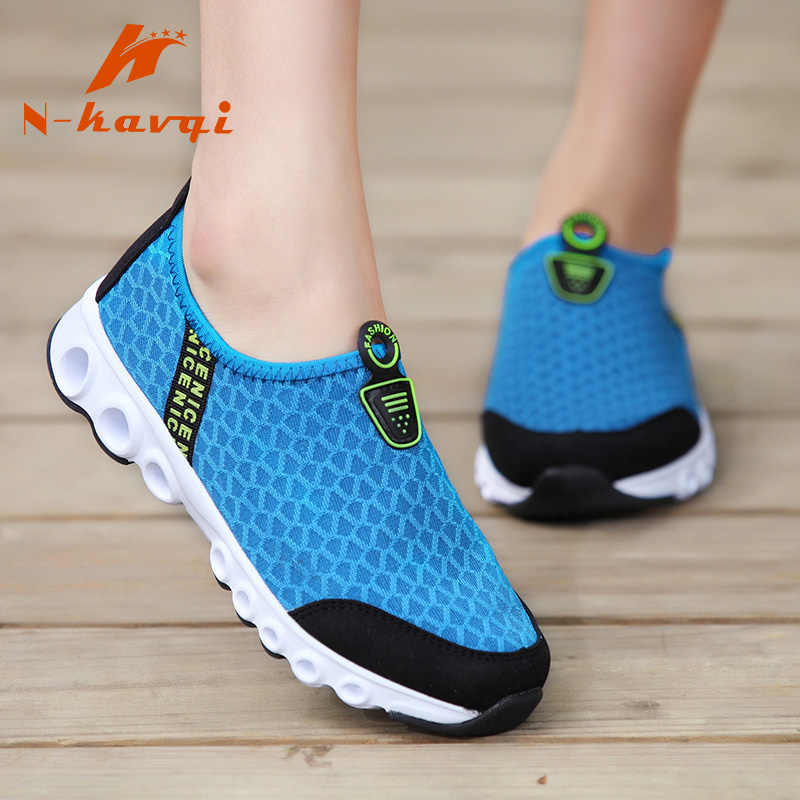 NKAVQI Women Flats Shoes Casual Loafers Mesh Breathable Shoes Woman Slip On Female Walking Shoes Size zapatos de mujer 35-44