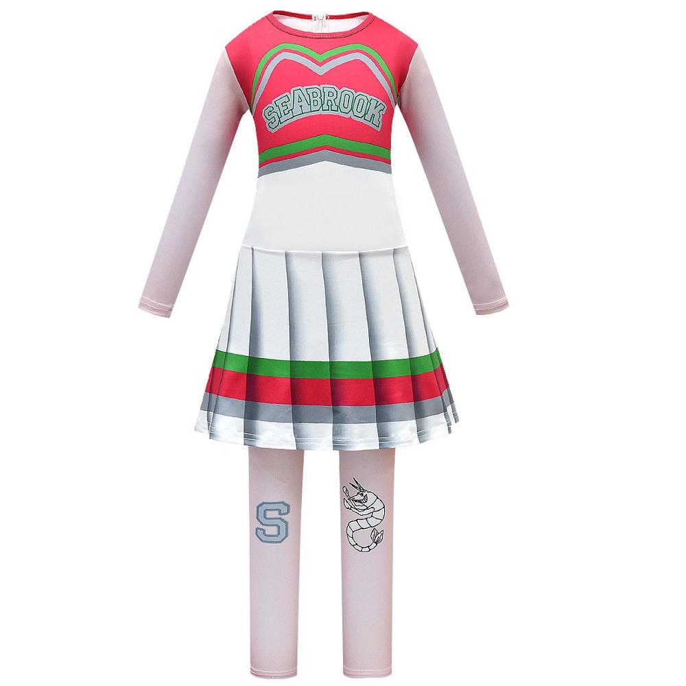 Halloween Cheerleader Costume Cosplay Regali per le ragazze Addison Outfit Fancy Dress per Zombie