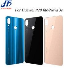 10 Teile/los Zurück Batterie Abdeckung Ersatz Für Huawei P20 Lite / Nova 3e Hinten Gehäuse Glas Chassis Tür Zurück Fall + aufkleber