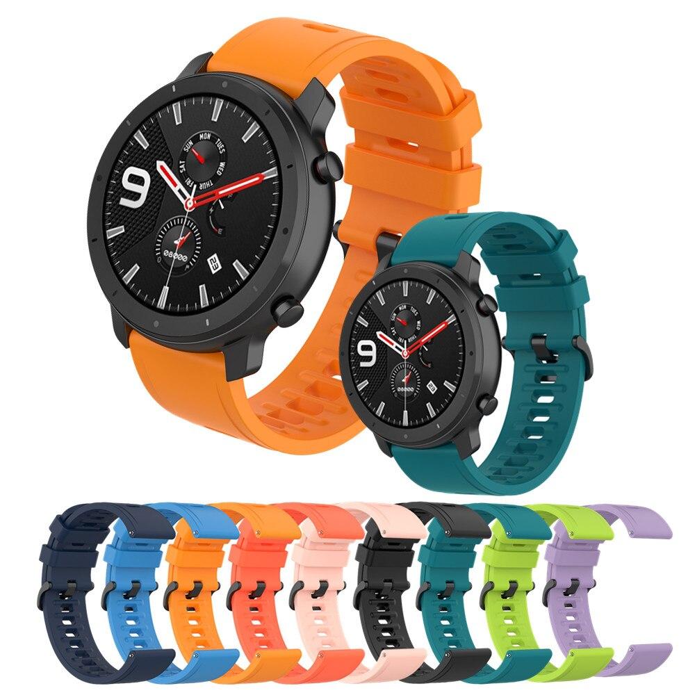 Ремешок для часов Amazfit GTR 47 мм 42 мм, браслет для смарт-часов Xiaomi Huami Amazfit Pace/Stratos/2/3/GTR2/GTR 2e/Bip