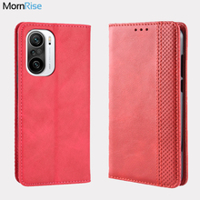 For Xiaomi MI POCO F3 F3 Pro Case Book Wallet Vintage Slim Magnetic Leather Flip Cover Card Stand Soft Cover Luxury Phone Bags