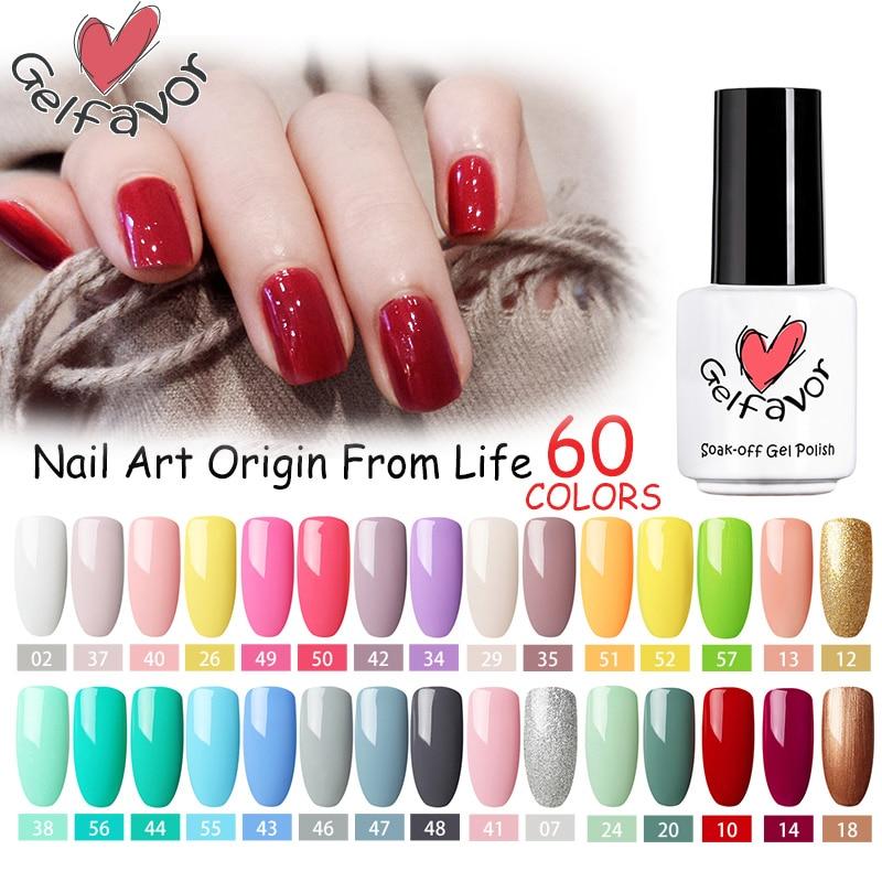 Gelfavor Gel Nail Polish 7ml Vemis semi permanent UV For Manicure Nail Gel Polish Hybrid Varnishes Nail Art Base Top Coat 7ML