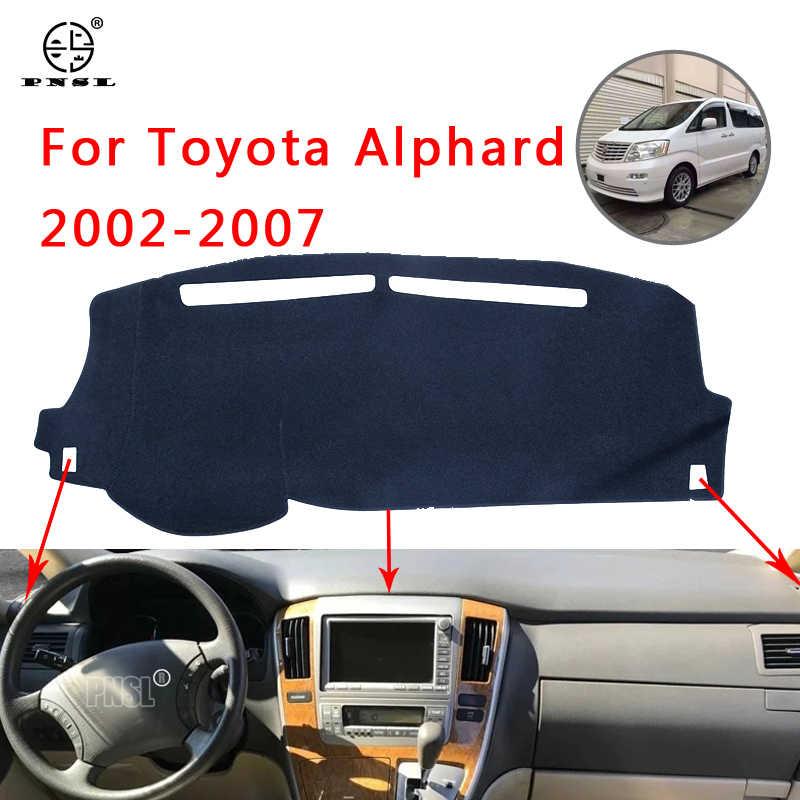 PNSL araba Dashboard kapak Dash Mat Dash Pad halı Toyota için Alphard Vellfire 10 AH10 2002-2007 güneş koruma anti-slip