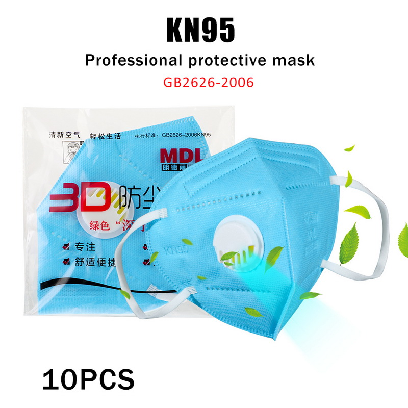 10 Pcs Fast Soon Antiviral KN95 Face Mask Anti-pollution PM2.5 KN95 Dust Mask Disposable Mouth Mask Professional Protective Mask