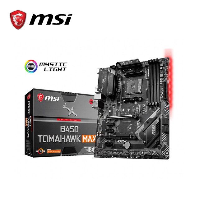 MSI anakart b450 tomahawk max amd ryzen 3rd cpu am4 oyun M.2 USB 3.1 4xDDR4 Crossfire ATX b450 marka yeni anakart 2011