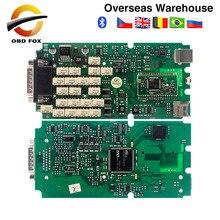 Single Green PCB tcs pro multi language multidiag pro with bluetooth V2017R1 tcs pro obd2 diagnostic tool Free shipping