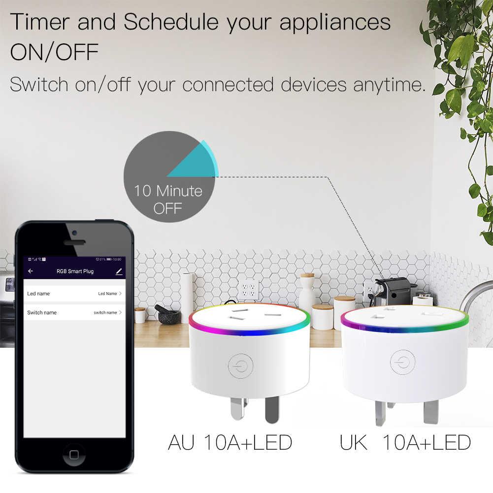 WiFi חכם תקע אלחוטי RGB כוח שקע חכם חיים/Tuya App אלחוטי שלט רחוק לעבוד עם Alexa Google בית