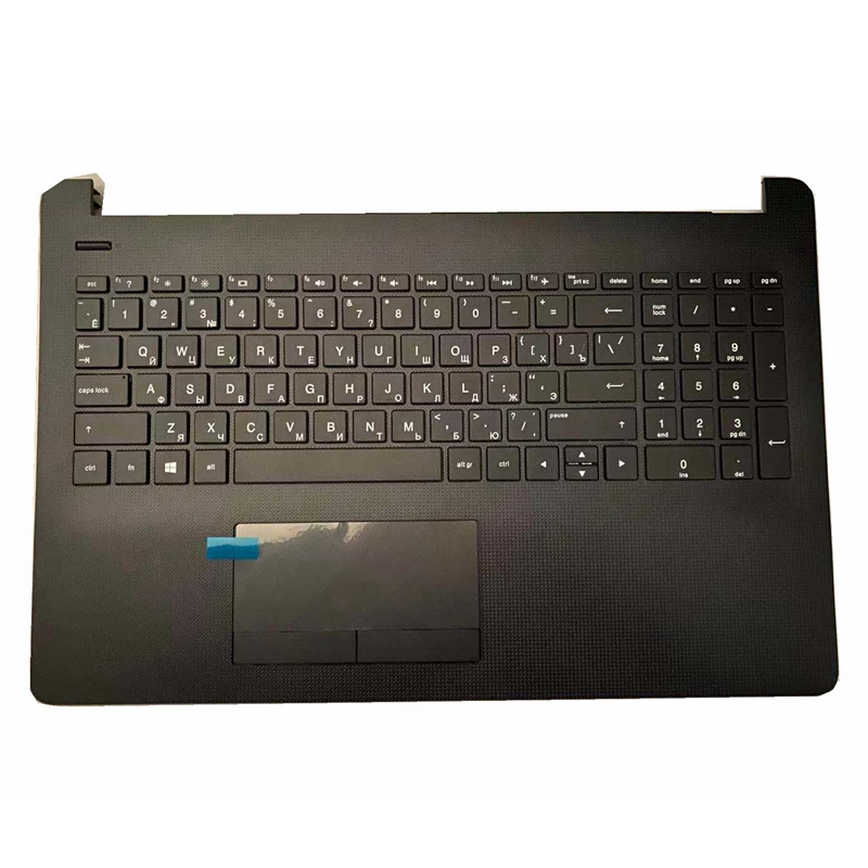 Russian laptop <font><b>keyboard</b></font> for <font><b>HP</b></font> 15T 15Z 15-BR-BS-BU-BW <font><b>250</b></font> 255 256 <font><b>G6</b></font> L03442-001 AP2040001C1 TPN-C129 C130 Palmrest Upper Cover image