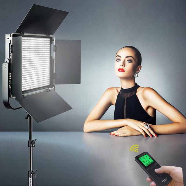 VILTROX VL D85T Professional slim Metal bi color LED oświetlenie fotograficzne i bezprzewodowy pilot na zdjęcie z kamery Studio lampa wideo