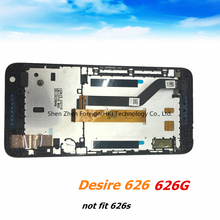 Free shipping  Original For HTC Desire 626 626W dual sim Full LCD Display& Touch Screen  Assembly With Frame~Blue and tools free shipping new for htc desire 626s single card sim full lcd display