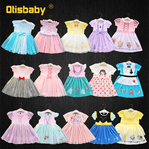 Baby Girls Mulan Dress Princess Anna Elsa Rapunzel Costume 1 2 Years Birthday Dresses Christmas Infant Party Fancy Fairy Dress(China)