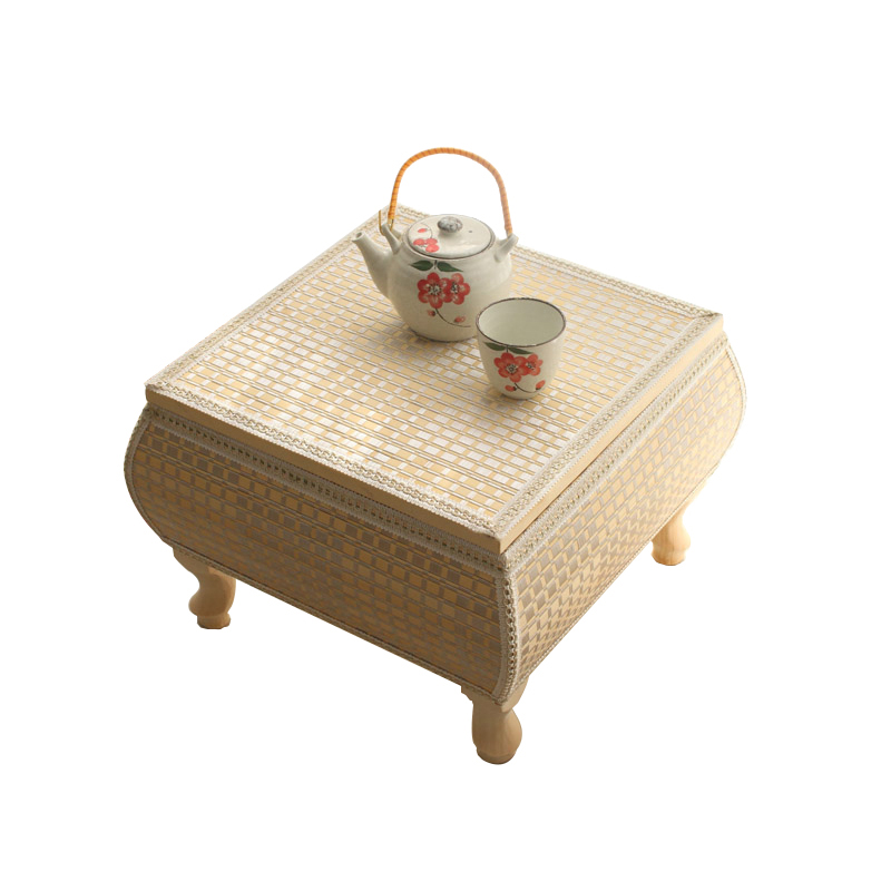 Straw, Bamboo, Japanese Solid Wood Floating Window Table, Small Tatami Coffee Table, Window Table, Balcony Computer Simplicity