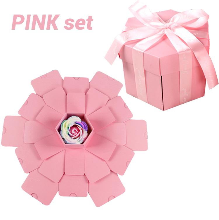 Hexagon Surprise Explosion Box DIY Handmade Scrapbook Photo Album Wedding Gift Box for Valentine Christmas Gift Boxes 14