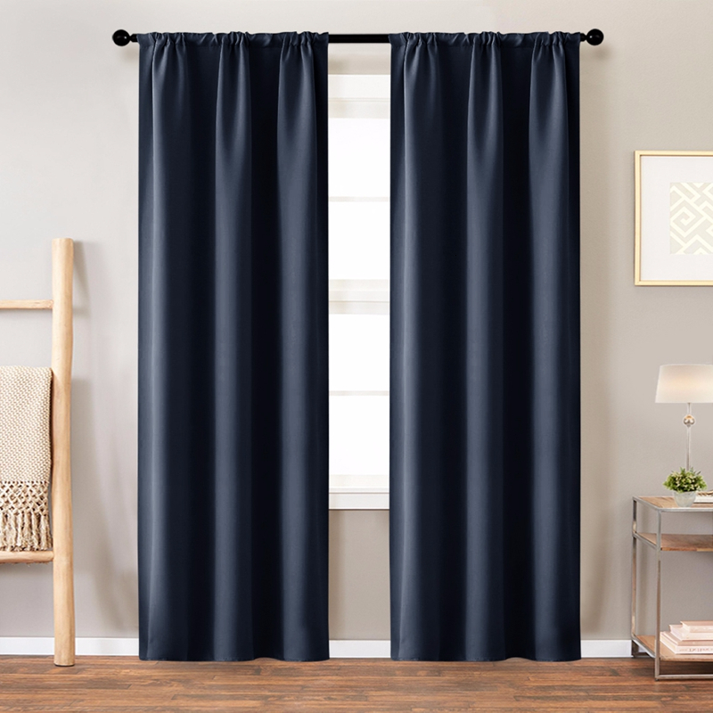 High-grade Blackout Insulation Lurtains For Living Room Bedroom Solid Color High Blackout Window Curtains Can Be Customized