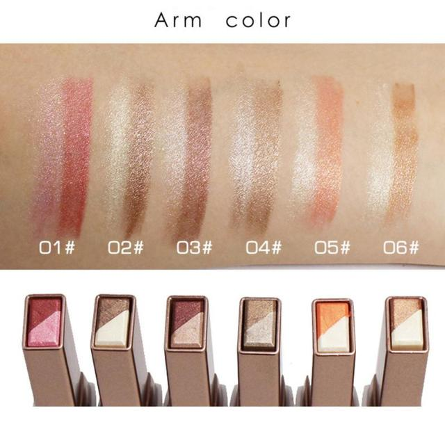 Two-color Gradient Stereo Eye Shadow Stick Pen Eyeshadow Stick Double Color Gradient Shadow Stick Shimmer Glitter Makeup TSLM1 3