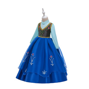 Image 3 - Queen Frozen 2 Elsa anan Dresses Childrens Christmas Birthday Set Clothes Girls Dress Birthday Party Cosplay Princess Dresses