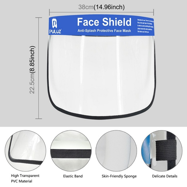 10pcs Anti Splash Spray Protection Safety Face Shield Clear Anti-Fog Saliva Mask Eye Protective 3