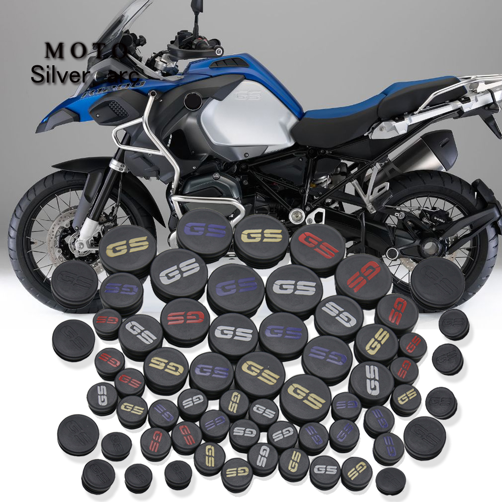 <font><b>motorcycle</b></font> frame hole cover plugs cap decor for BMW R 1200GS R 1200 <font><b>GS</b></font> <font><b>R1200GS</b></font> LC adventure ADV 2013-2016 2015 14 frame Cap set image