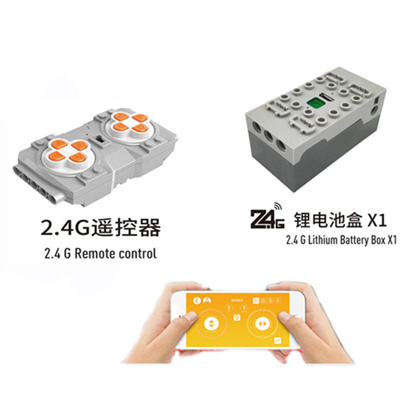 Building-Blocks Lithium-Battery-Box Remote-Control Mobile-Phone Sbrick Buwizz Bluetooth