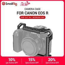Smallrig Camera Kooi Voor Canon Eos R Met Koud Shoe Mount Schroefdraad Gaten Voor Magic Arm Microfoon Hechten 2803
