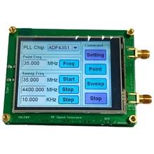 35-4400m adf4351 rf fonte de sinal gerador de sinal onda/ponto freqüência imprensa sn display lcd controle