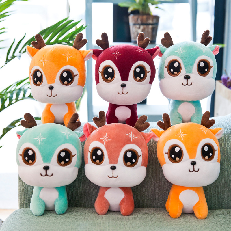 1PCS cute giraffe plush toy pillow doll kawaii animal child baby gift 24CM