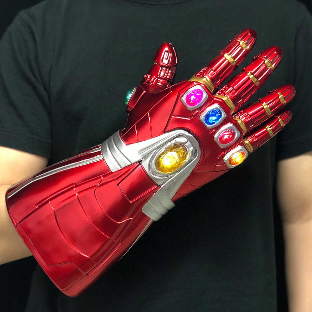 Đèn Led Người Sắt Vô Cực Nhẹ Cosplay Avengers Endgame Tony Stark Cánh Tay Găng Tay Siêu Anh Hùng Thanos Găng Tay Bộ Sưu Tập Đồ Chơi Đạo Cụ Cao Cấp