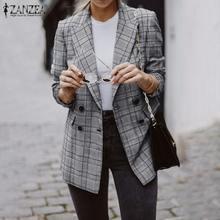 Office Blazers Suits Women Outwear Coats Casual-Jackets Spring Long-Sleeve Elegant ZANZEA