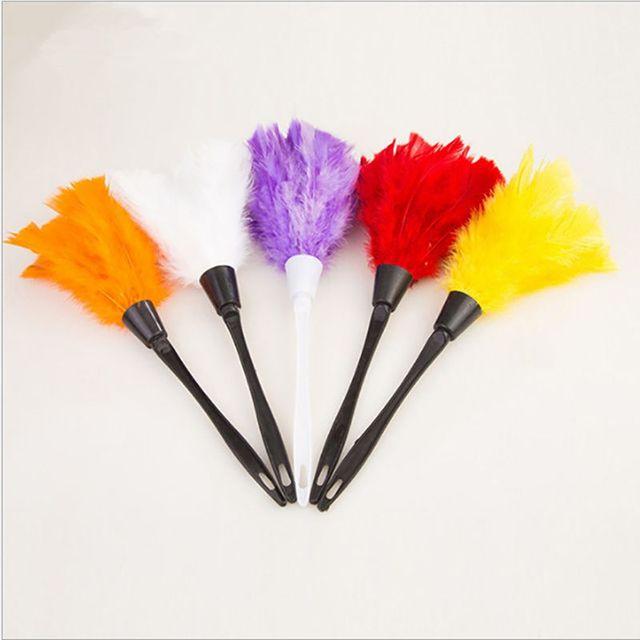 Household Multicolor Anti Static Feather Duster Dust Ceaner Plastic Handle Keyboard Dusting Broom Tools Plumero Polvo Limpieza