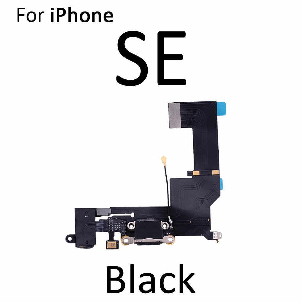 Wysokiej jakości marki Flex Cable dla iPhone 5S SE 6 6S 7 8 Plus ładowarka USB Port złącze stacji dokującej Z mikrofonem Flex Cable