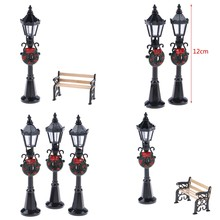 Street-Lamp Dollhouse-Decals Christmas-Park Miniature for New Decor-Toy 1pc/1set 1/12
