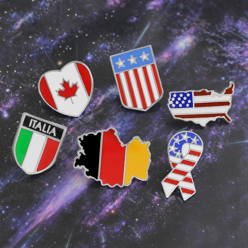 胸针国旗1