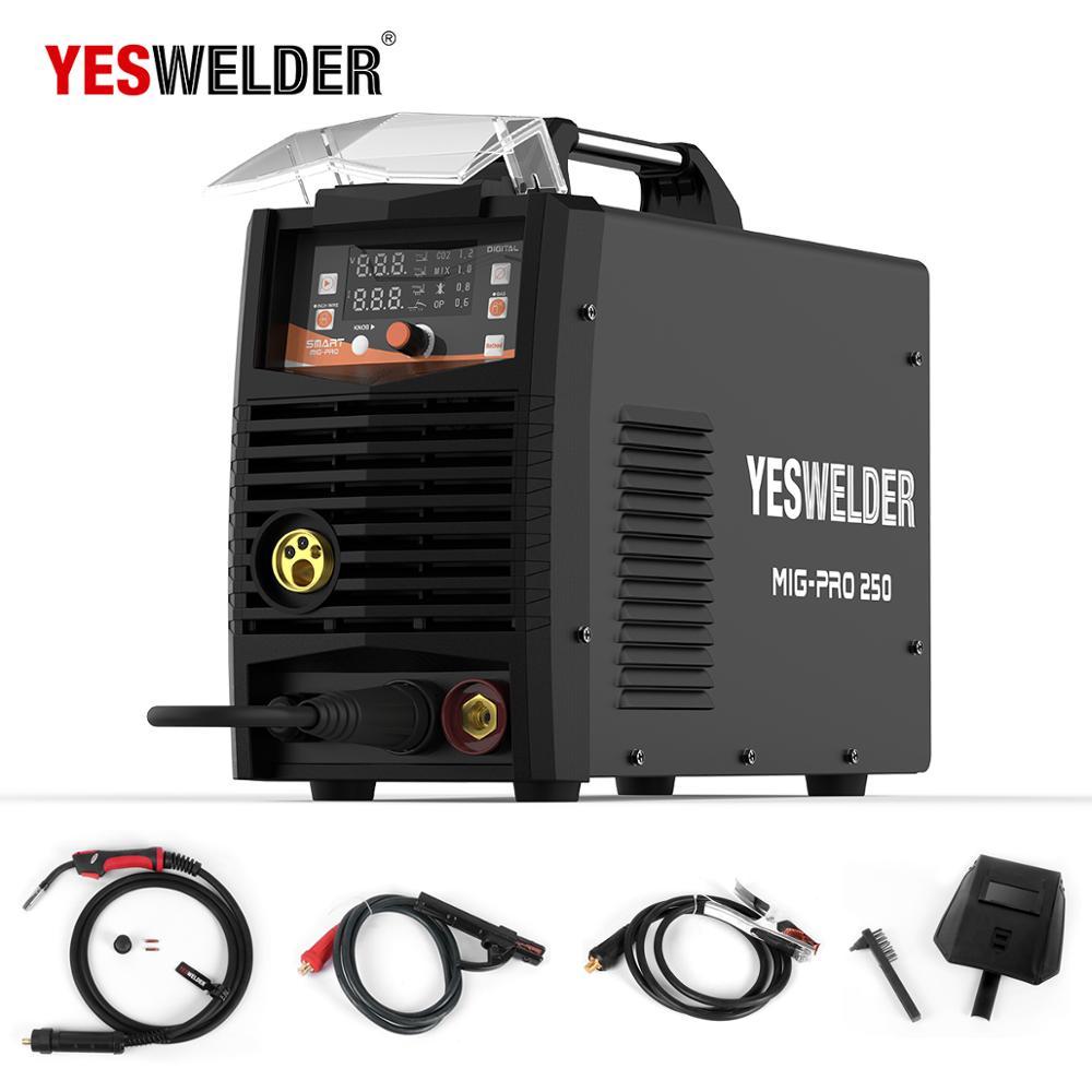 YESWELDER MIG250A Keine Gas und Gas Schweißen Maschine MIG Mit Licht Gewicht Einphasig 220 V Eisen Schweißer