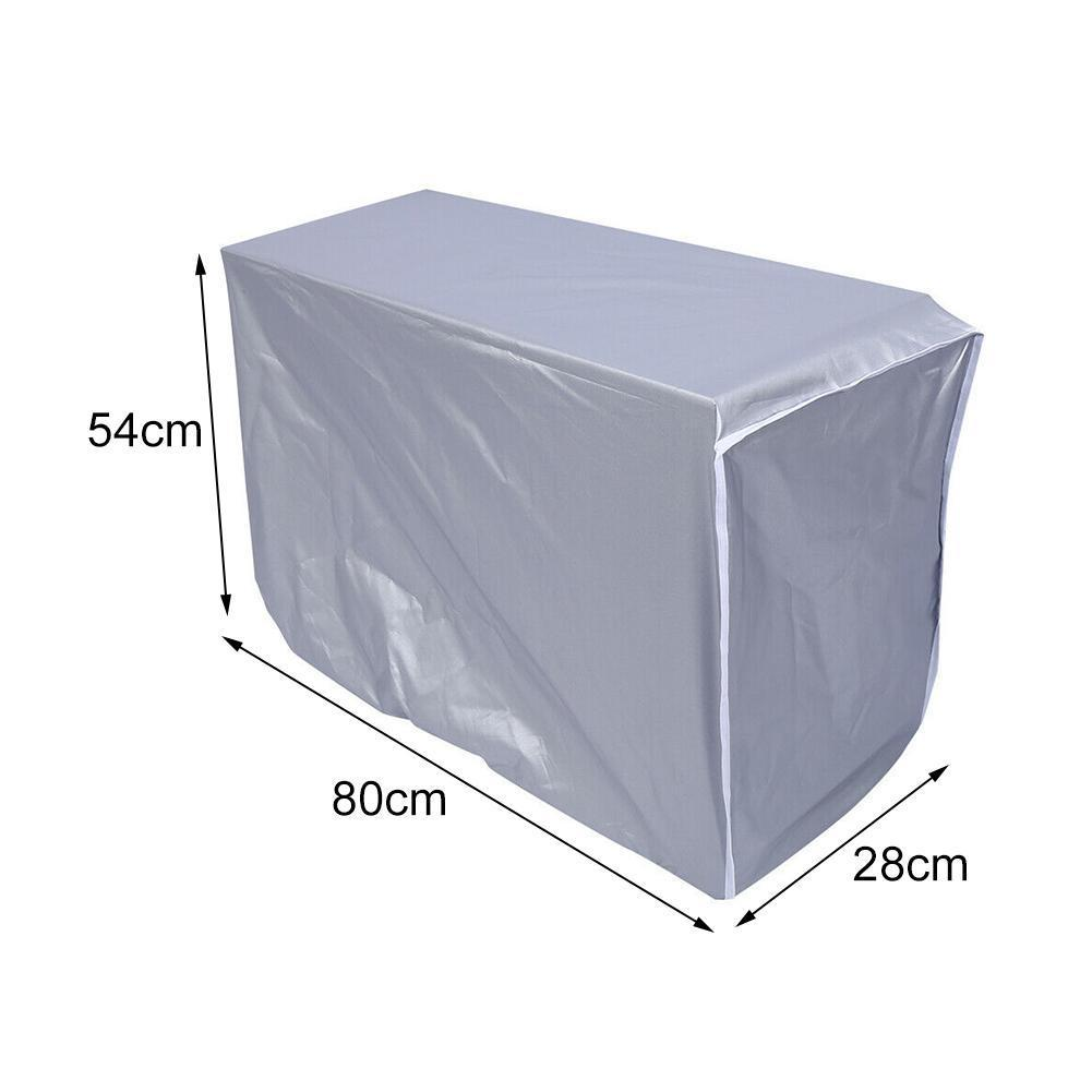 3sizes Outdoor Air Conditioner Cover Waterproof Polyseter Cover Sunshine Dustproof Reflect Defence Rainproof M8m1