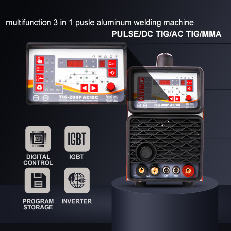 DC KEYUE Pulse Single Aluminum Machine Welding AC TIG200P TIG Remote Phase Digital Portable Welder Control 220V Inverter MMA
