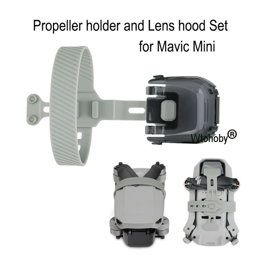 Propeller Motor Holder with Lens Hood Anti-glare Lens Cover for DJI Mavic Mini Drone Accessories Props Gimbal Protector