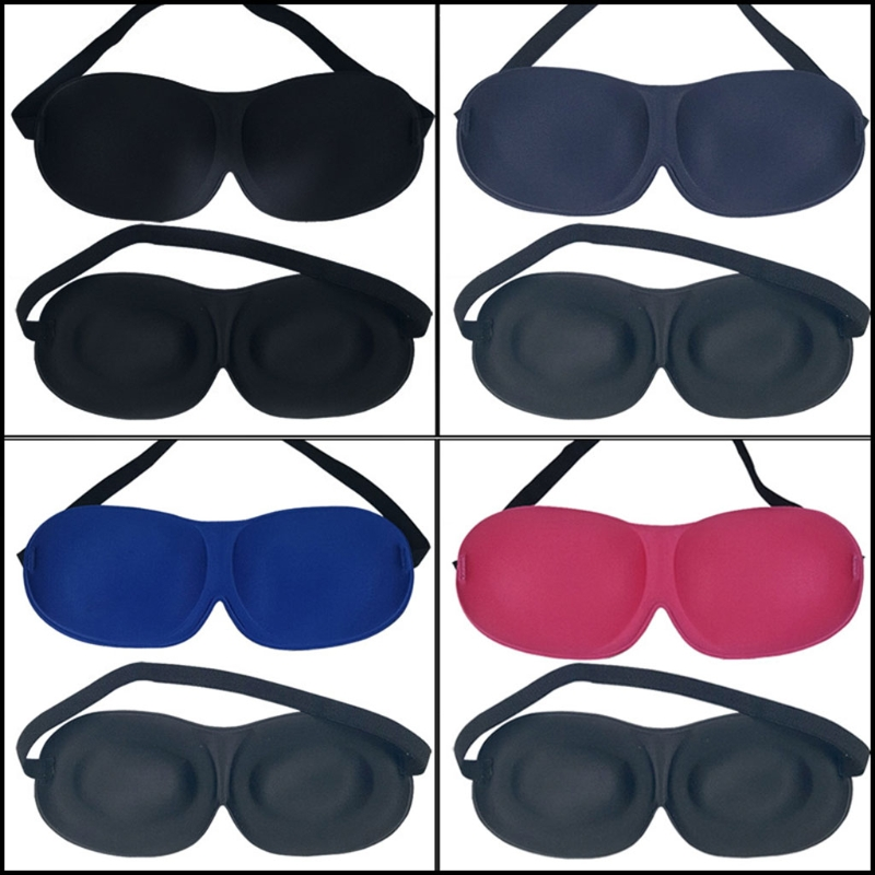 3D Rest Sleeping Eye Mask Padded Sponge Shade Cover Blindfold Patch Portable New LX9E