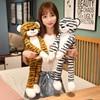 65CM kawaii long strip tiger plush animal toy doll pillow short plush fabric comfortable soft girlfriend sleeping companion gift