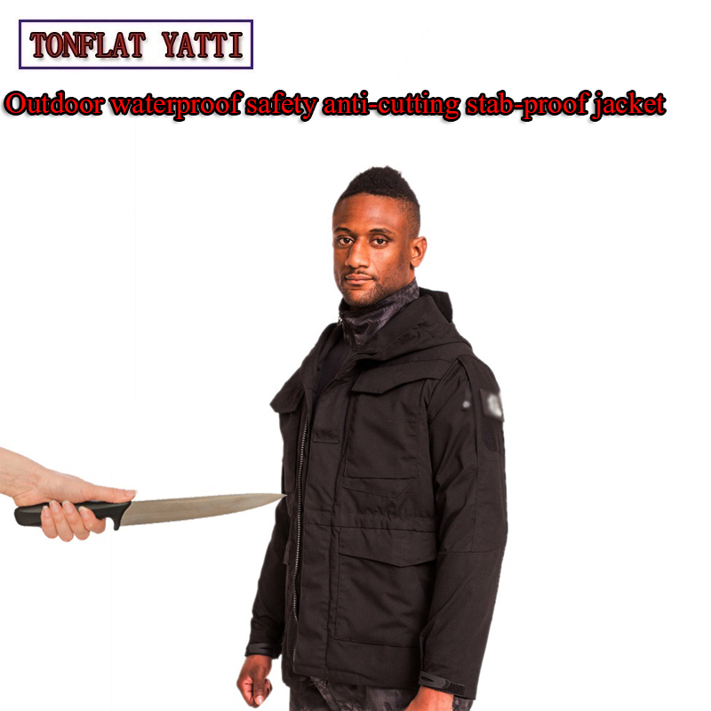 2019 Self defense Tactics Stab-Resistant Anti-Cutting Jacket Waterproof Windproof Quick-Drying Covert Stab SWAT Police Clothing