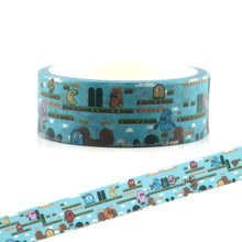 CA128 Pac-Man Washi Tapes DIY Painting paper Masking tape Decorative Adhesive Tapes Scrapbooking Stationery Stickers 15mmx5m the office washi tape diy masking tape scrapbooking stickers adhesive tapes stickers decorative stationery tapes g0163