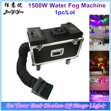 1pc New Small 1500W Water Fog Machine DMX Remote Control Smoke Haze Low Lying Fog Machine For Xmas Holiday Stage Decoration