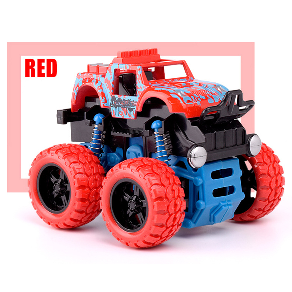 Mini Inertial Rotatable Car Toys for Boys Baby Friction Power Four-wheeled Off-road Vehicle Diecast Model Inertial Car Toy image