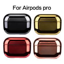 Portable Airpods Electroplated Headphone Case For Apple Bluetooth Headset Slim Use Most Safe Efficient Mobile Phone Essentials(China)