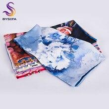 [BYSIFA] femmes armée vert foulard en soie châle printemps automne nouveau Lotus Design longues écharpes chinois Vintage boutons dames foulards