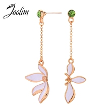 JOOLIM White & Black Flower Dangle Earring Drop