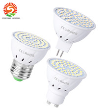 GU10 Led E27 Lamp Spotlight Lamp 48 Leds Lampara 220V GU10 Bombillas Led MR16 Gu5.3 Lampada Spot Led Licht voor Thuis Decoratie(China)