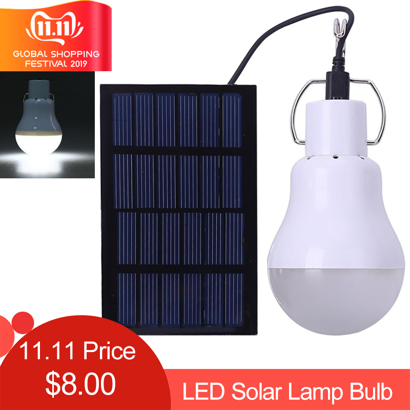 LED Solar Light Portable Lamp Bulb Luminaria Tent Flashlight Solar Energy Panel Outdoor Sunlight Garden Camping