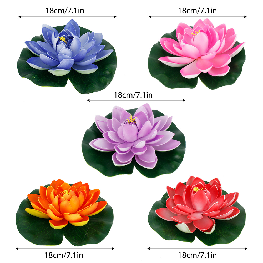 H9bc62f2d7c5b46179d4a8bad6b3c421ft - Simulation Lotus Water Lily Decoration Pond Swimming Pool Suitable For Indoor And Outdoor Applications Garden Water Decoration