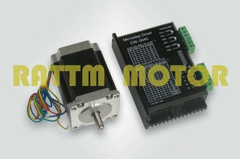 1set Nema23 stepper motor 270oz-in/76mm,3.0A + CW5045 Motor Driver 256 microstep,4.5A current 50VDC CNCkit image